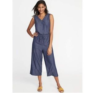 Old Navy Sleeveless Chambray Utility Jumpsuit